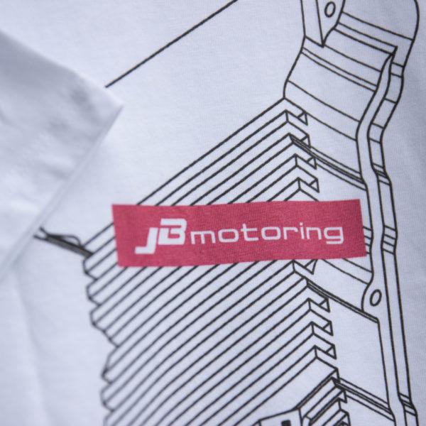 JB-Motoring Merchandise T-Shirt mit VR6 Ventildeckel Detailansicht