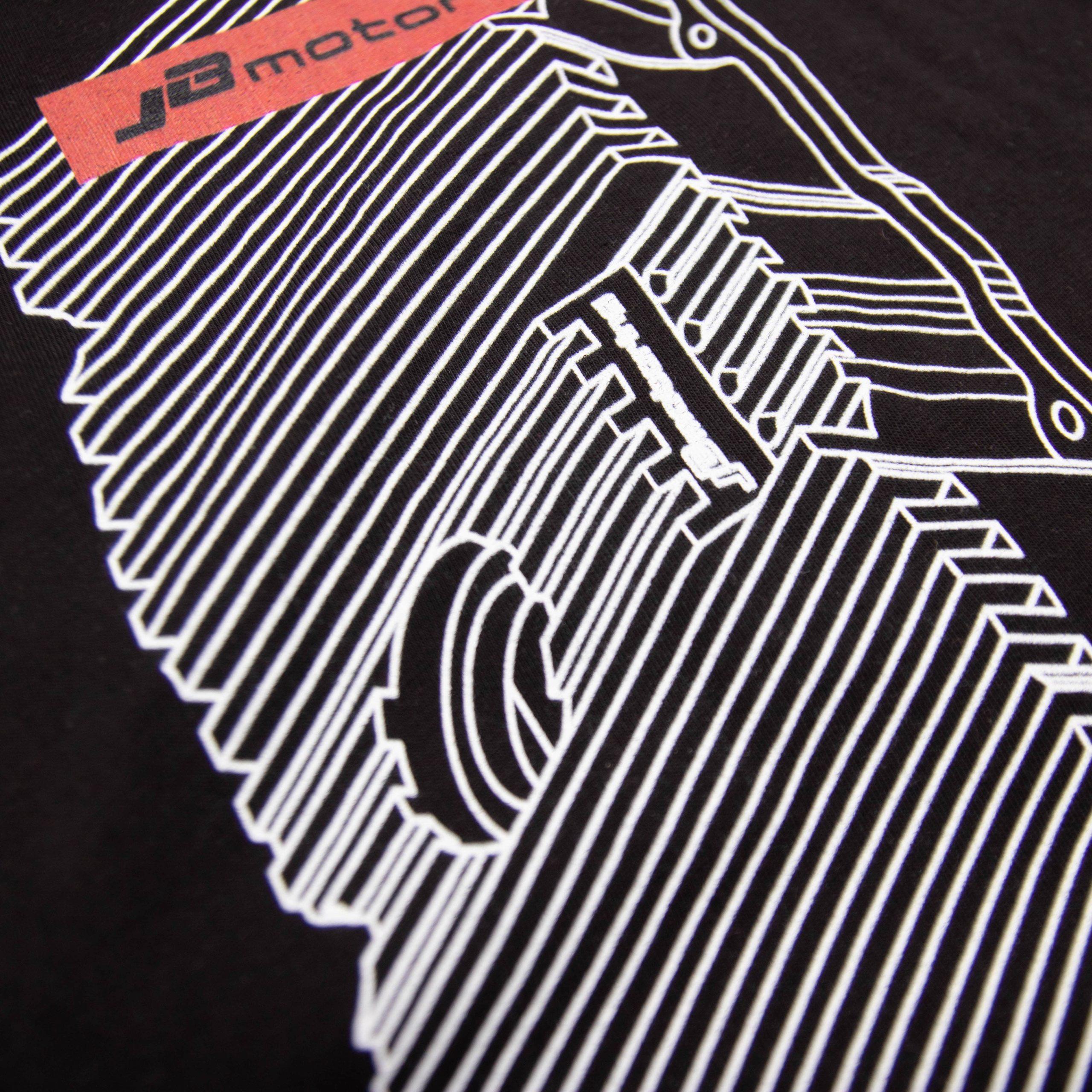 JB-Motoring Merchandise T-Shirt mit VR6 Ventildeckel schwarz Detailansicht